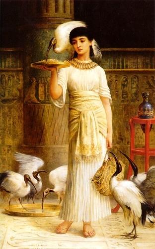 Edwin Longsden Long - Alethe, Attendant of the Sacred Ibis