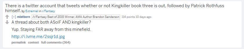 Brandon Sanderson Reddit